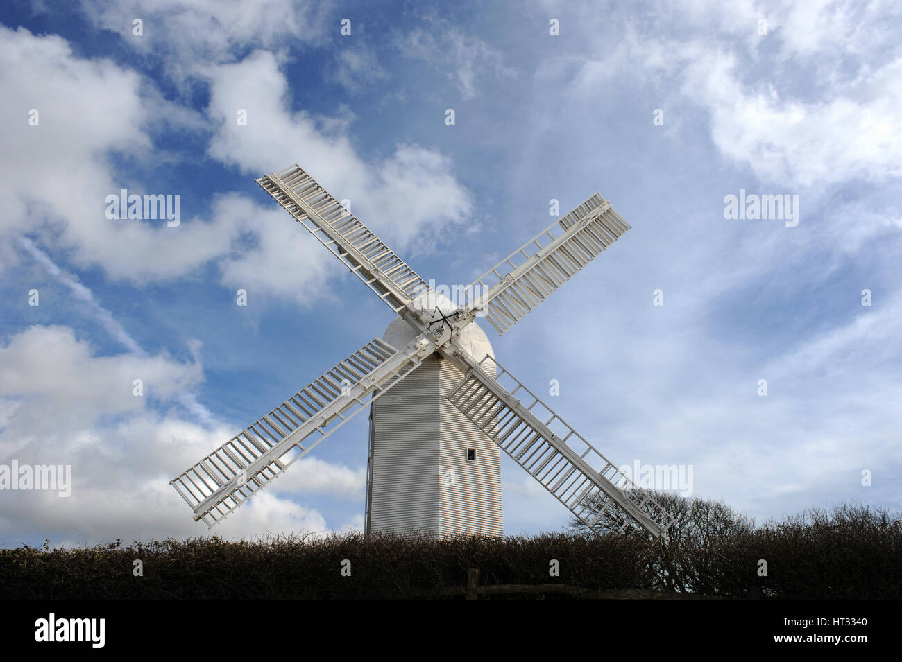 The Jill windmill at Clayton, West Sussex, England UK. This fully restored 19th-century windmill is located in the - Stock Image