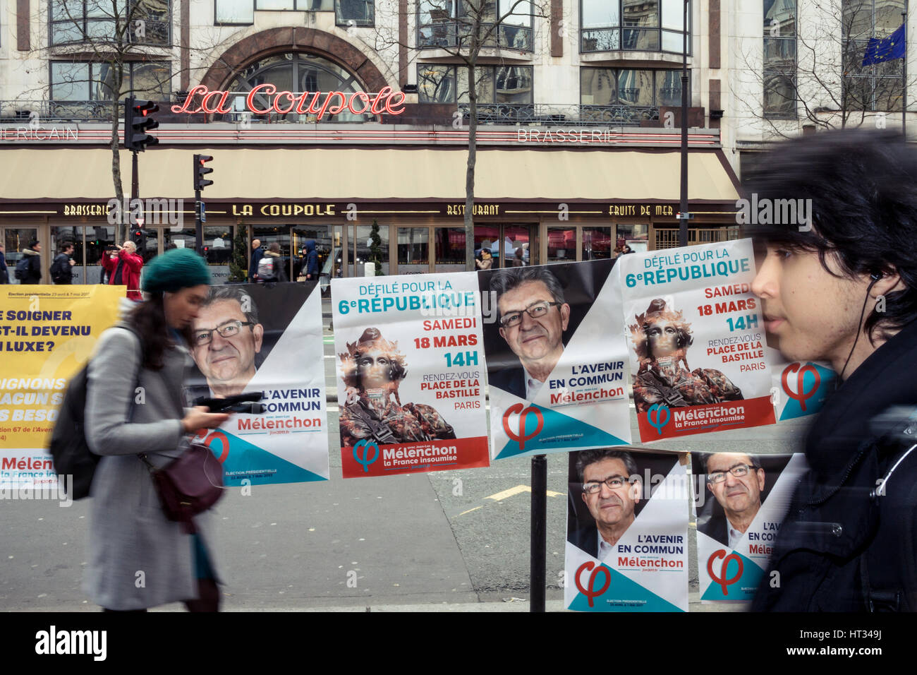 Paris, France. 07th Mar, 2017. Demonstration of french health workers against the degradation of their working conditions - Stock Image