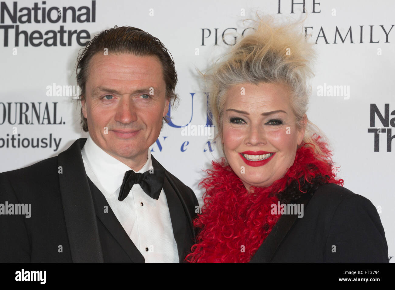 Actor Hal Fowler with singer Kim Wilde