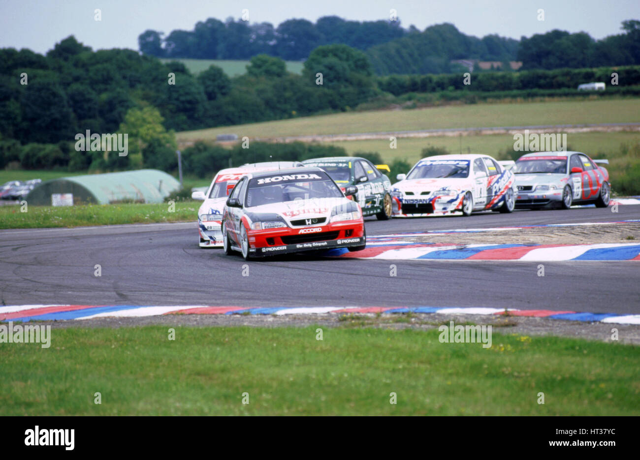 1998 Touring Cars, Thruxton.Honda Accord.J.Thompson leads. Artist: Unknown. - Stock Image