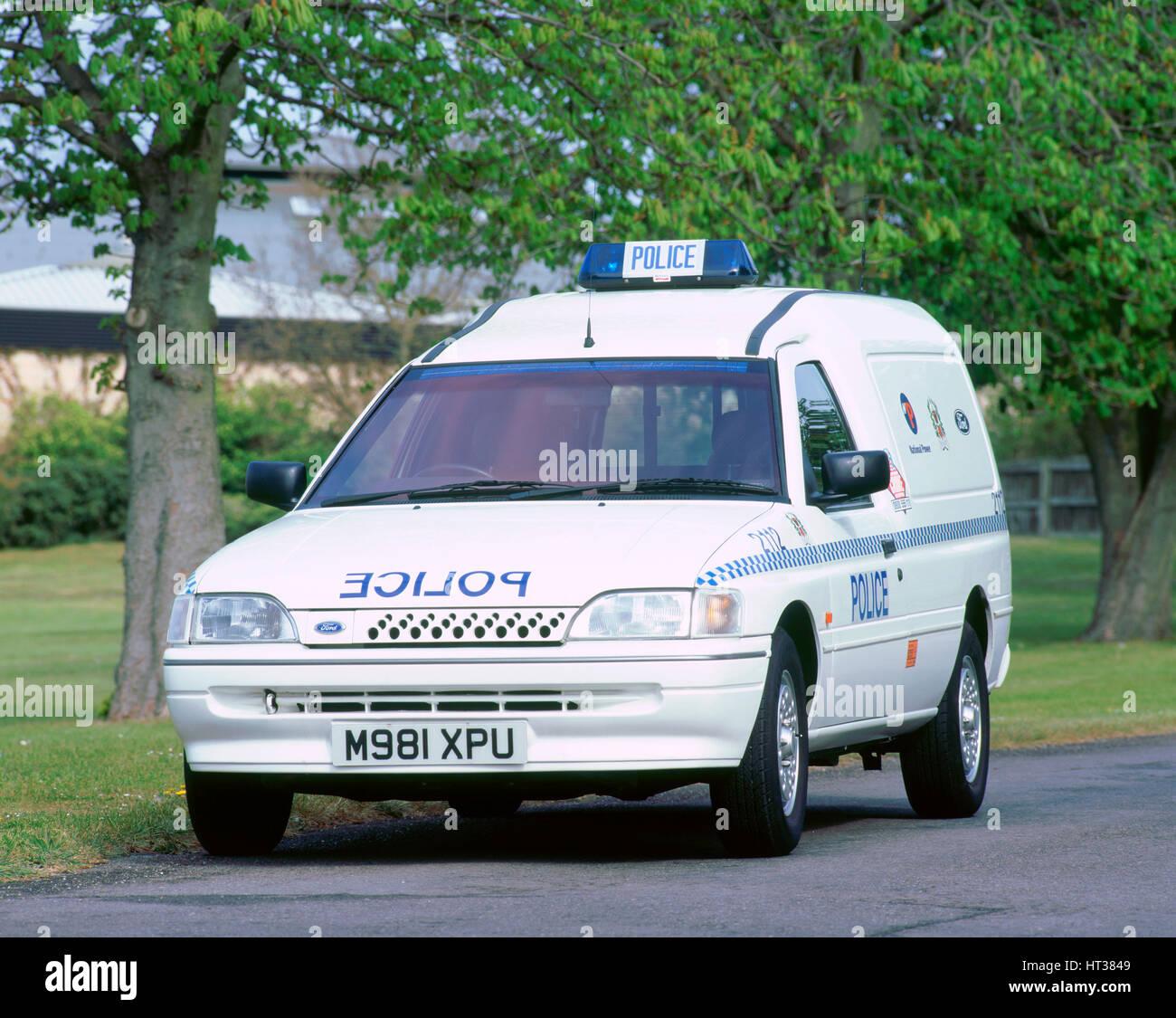 1995 Ford Escort Ecostar Electric Police Van Artist Unknown