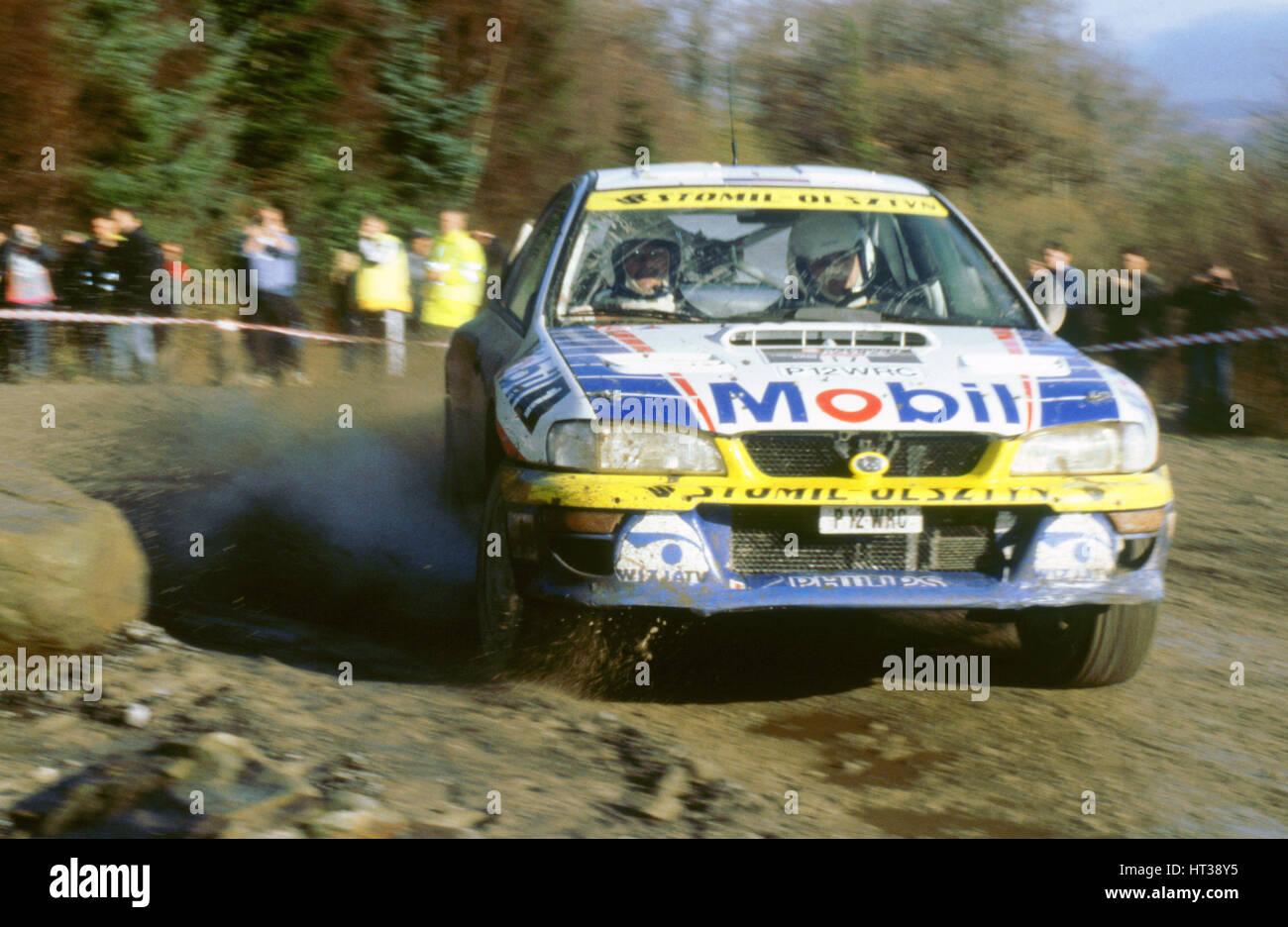Subaru impreza wrc 1998 network Q rally. Artist: Unknown. - Stock Image