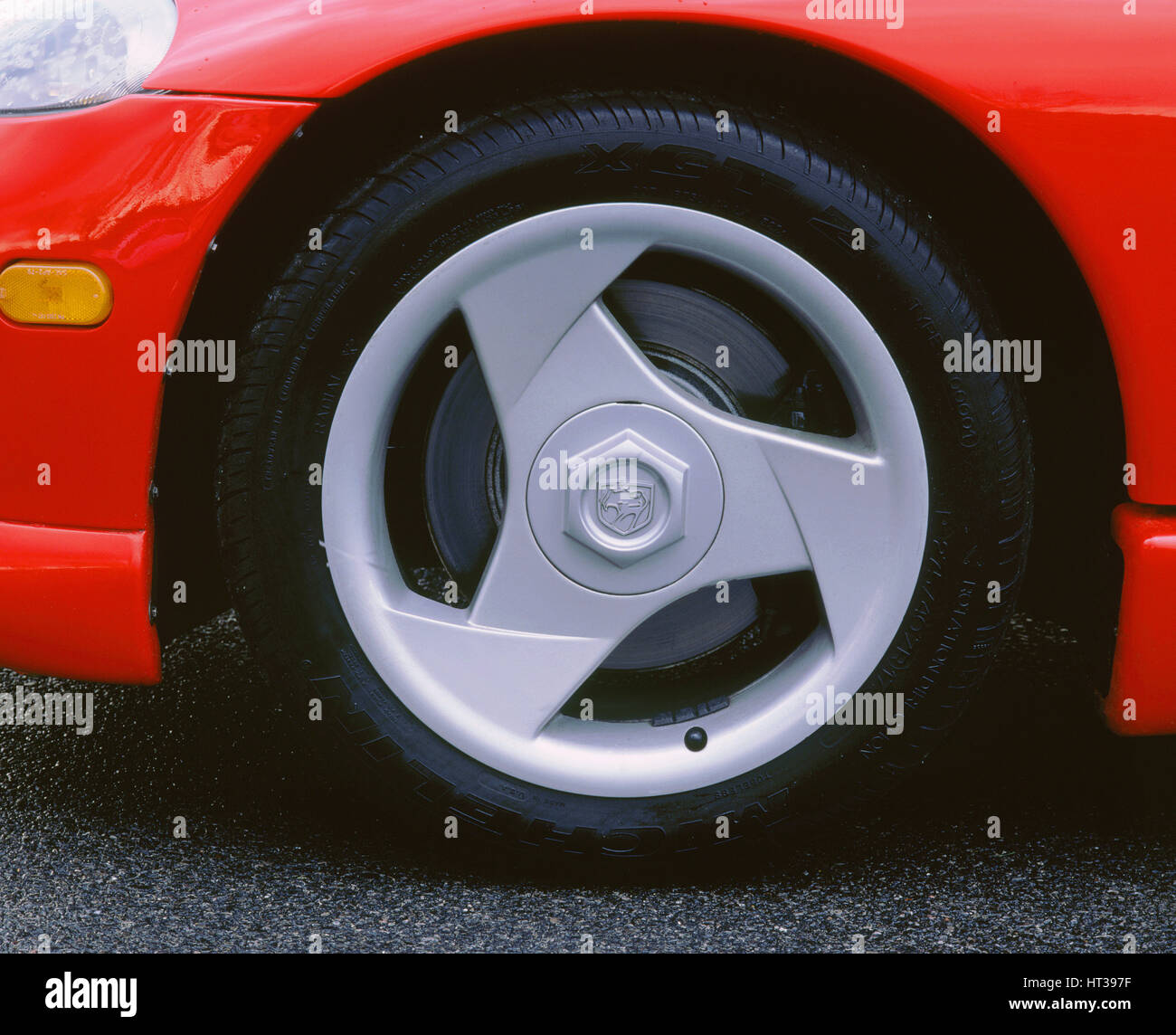 1993 Dodge Viper alloy wheel. Artist: Unknown. - Stock Image