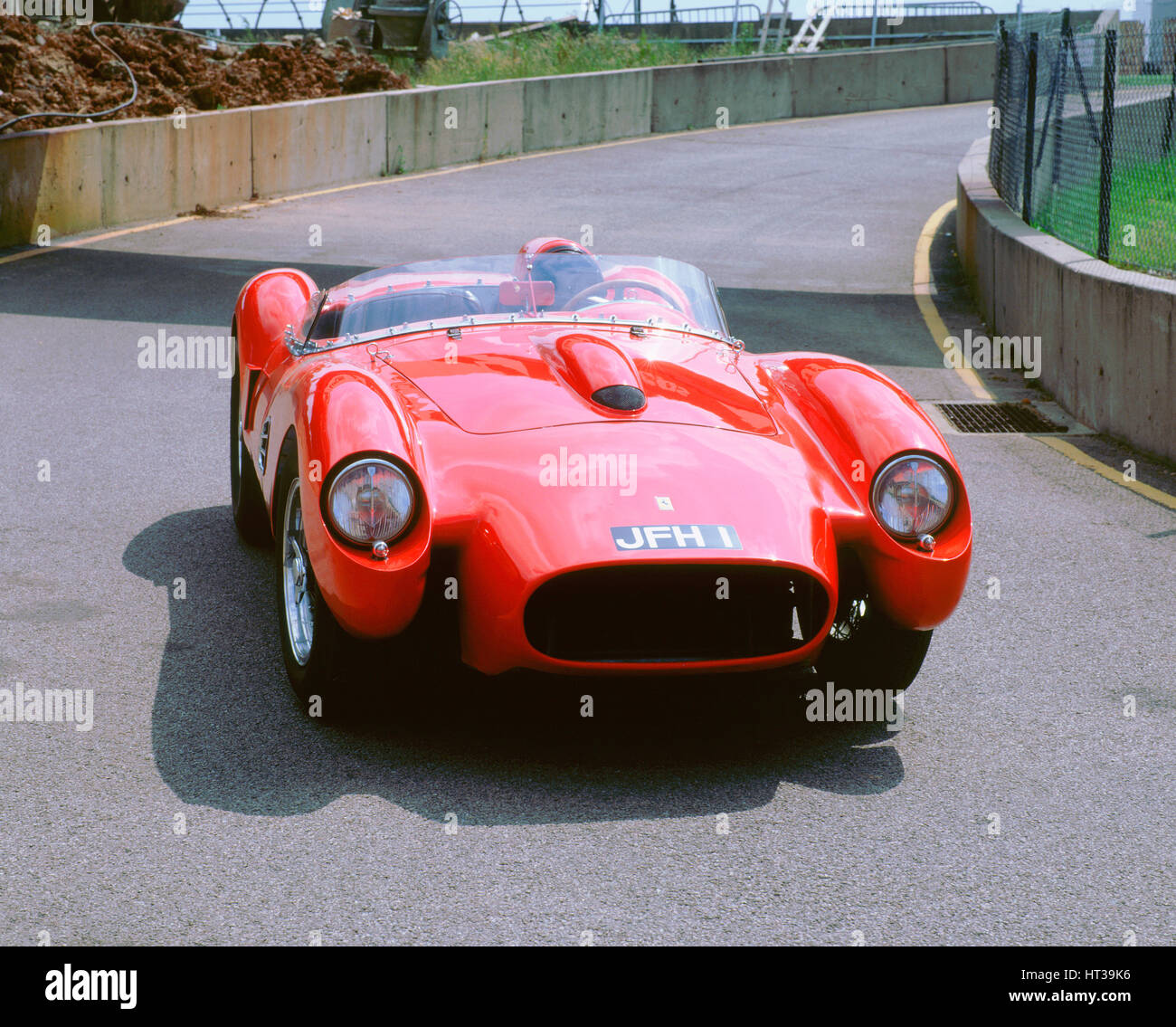 1958 Ferrari 250 Testarossa. Artist: Unknown. - Stock Image