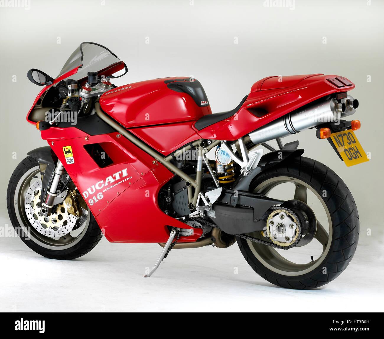 1995 Ducati 916. Artist: Unknown. - Stock Image