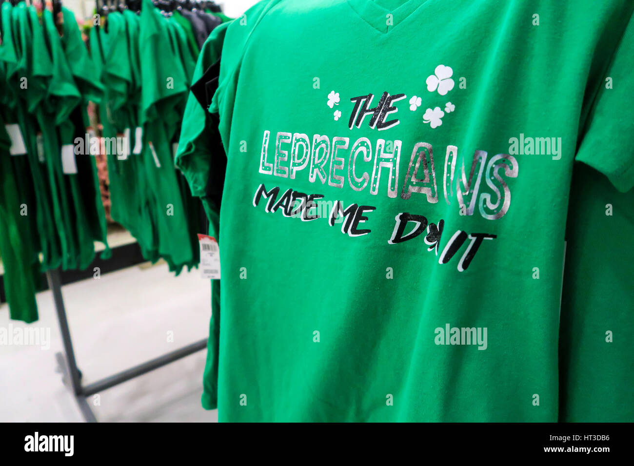 6248ef7bb St. Patrick's Day Themed Merchandise at Kmart, NYC, USA Stock Photo ...