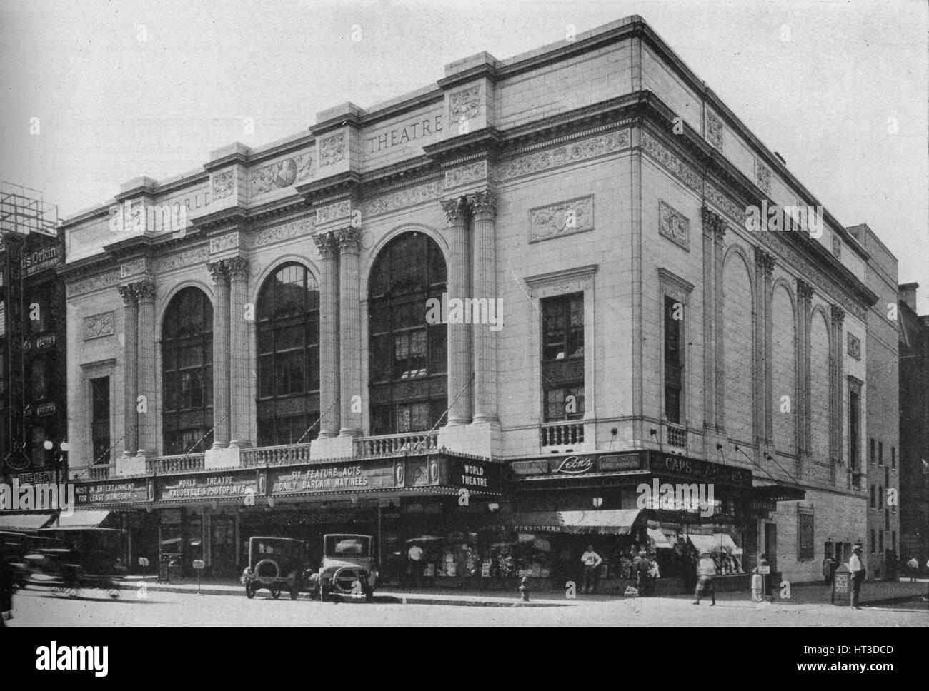 The World Theater, Omaha, Nebraska, 1925. Artist: Unknown. - Stock Image