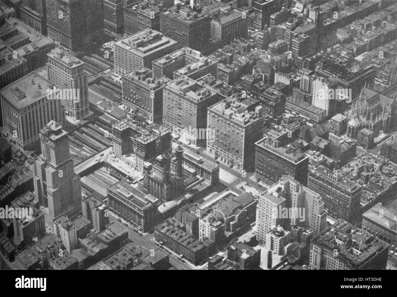 Aerial view of Grand Central District, New York City, showing the Shelton Hotel, 1926. Artist: Unknown. - Stock Image