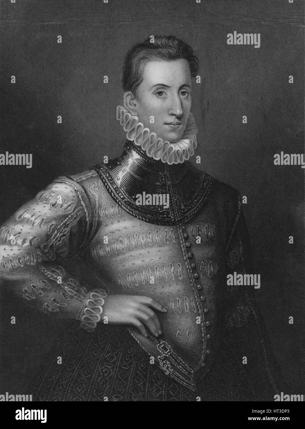 'Sir Philip Sidney', 1838. Artist: Henry Robinson. - Stock Image