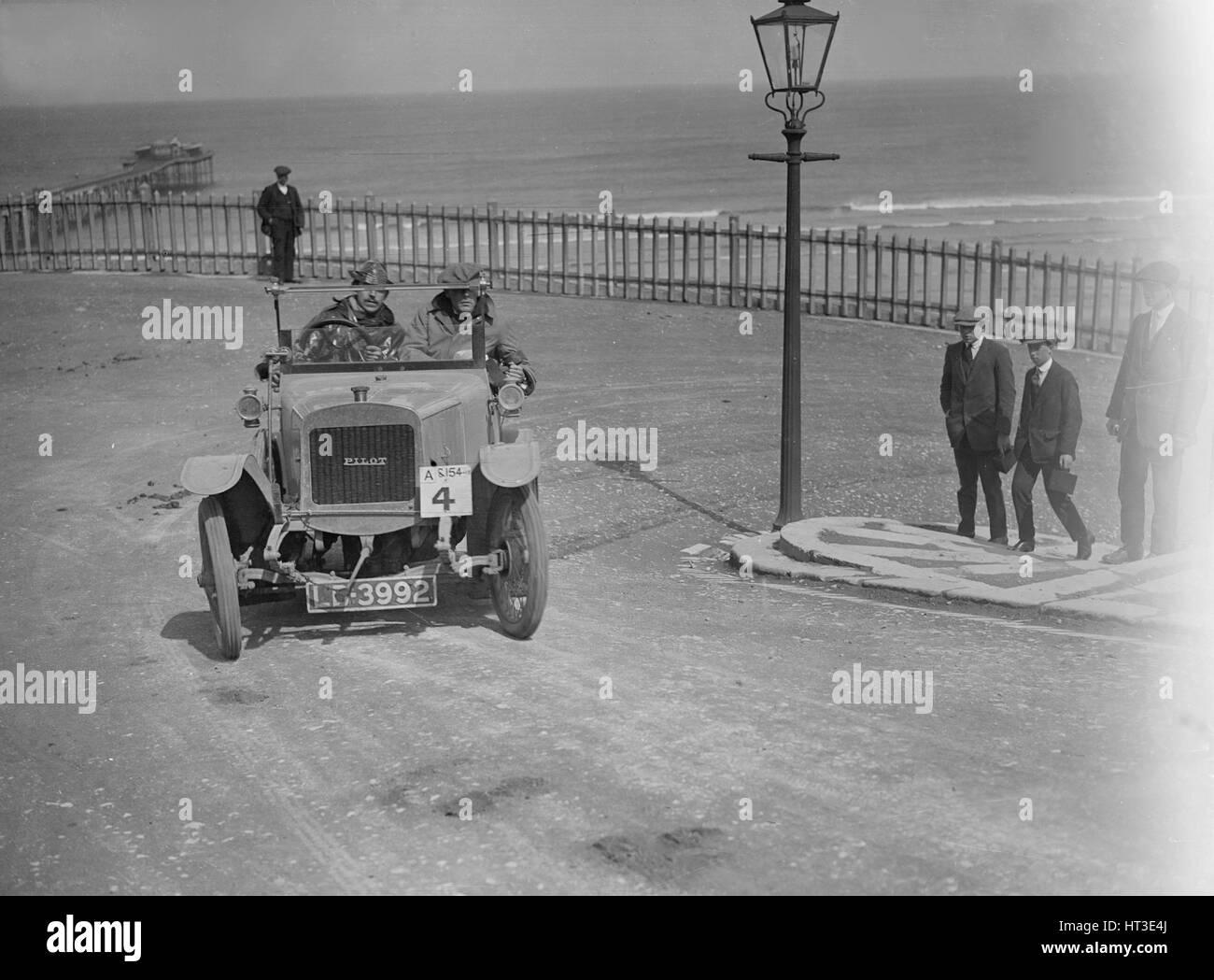 Pilot car at the seaside. Artist: Bill Brunell. - Stock Image