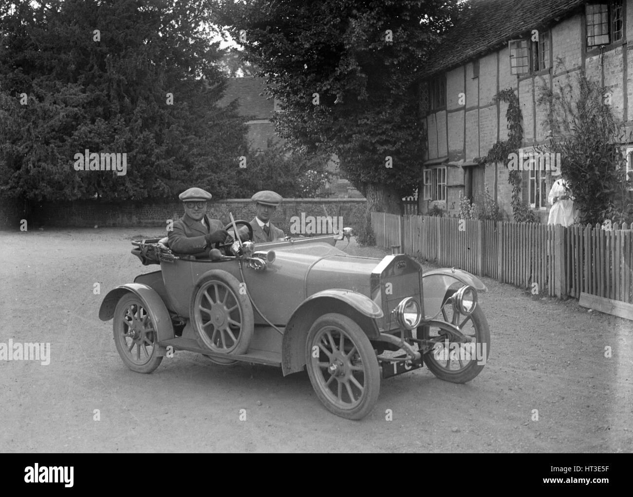 Singer Open 2-seater car. Artist: Bill Brunell. - Stock Image