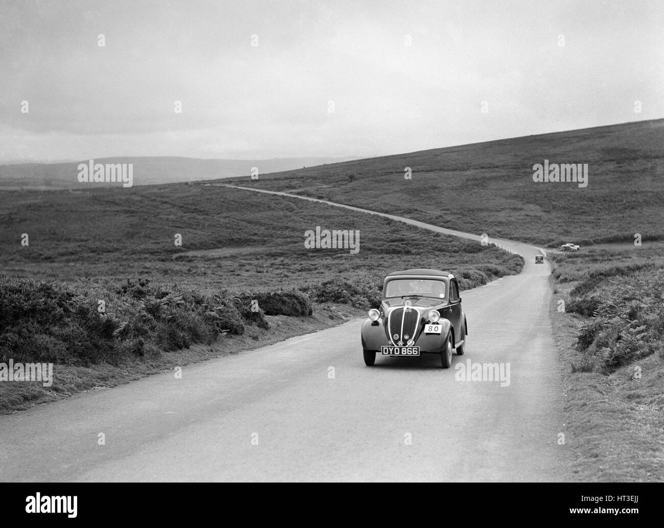 Fiat of HW Johnson, winner of a silver award at the MCC Torquay Rally, July 1937. Artist: Bill Brunell. - Stock Image