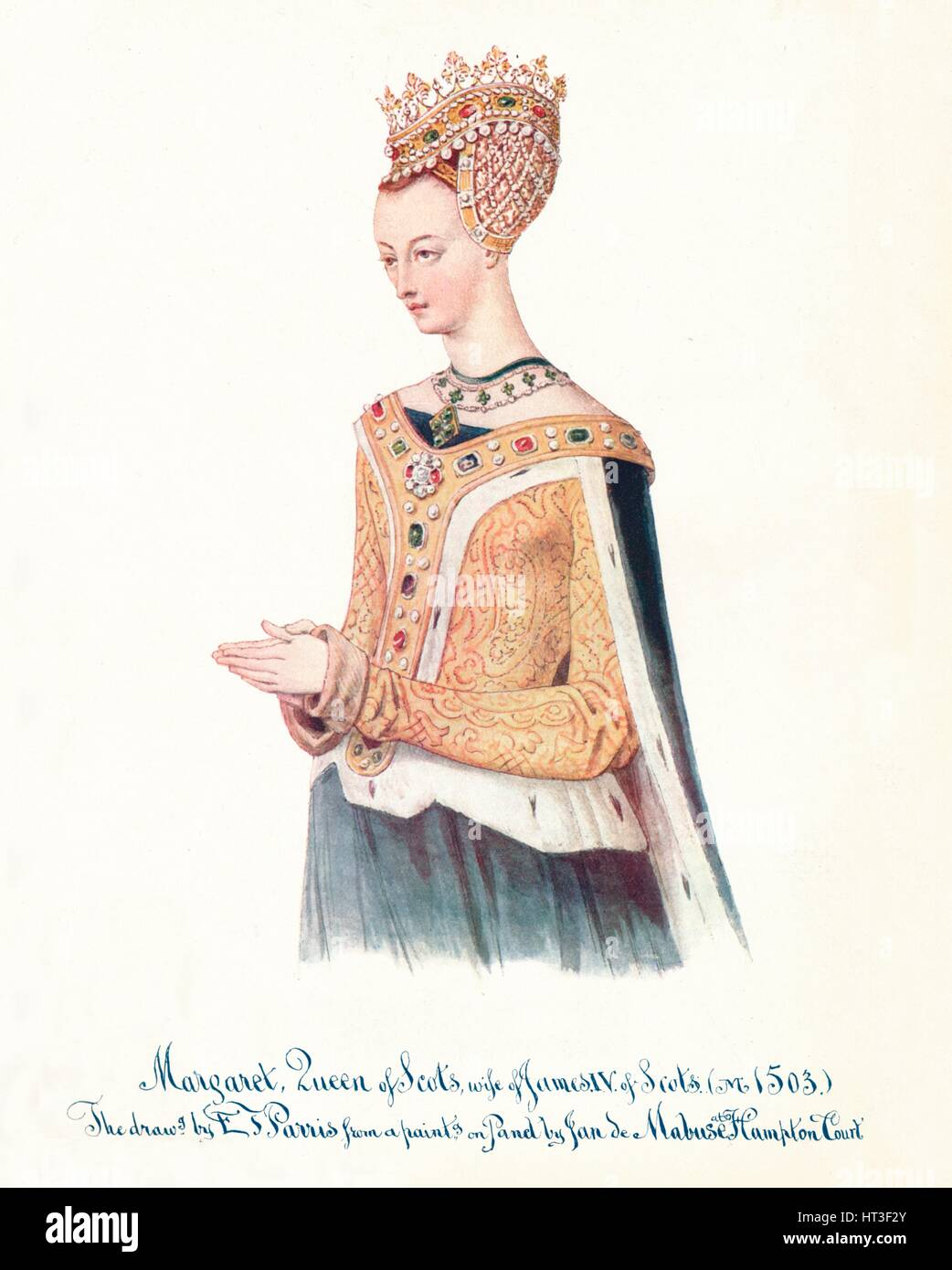 'Margaret, Queen of Scots, wife of James IV of Scots', 1912. Artist: Edmund Thomas Parris. - Stock Image