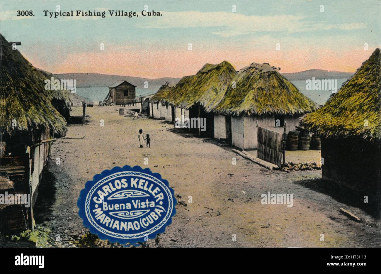 'Typical Fishing Village, Cuba', 1912. Artist: Unknown. - Stock Image
