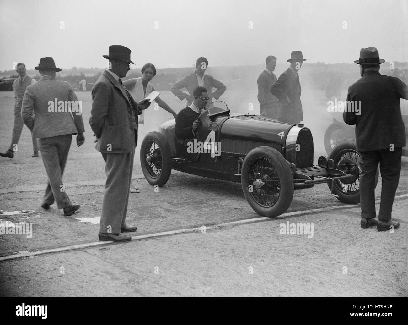 Bugatti at a surbiton motor club race meeting brooklands for National motor club compensation plan