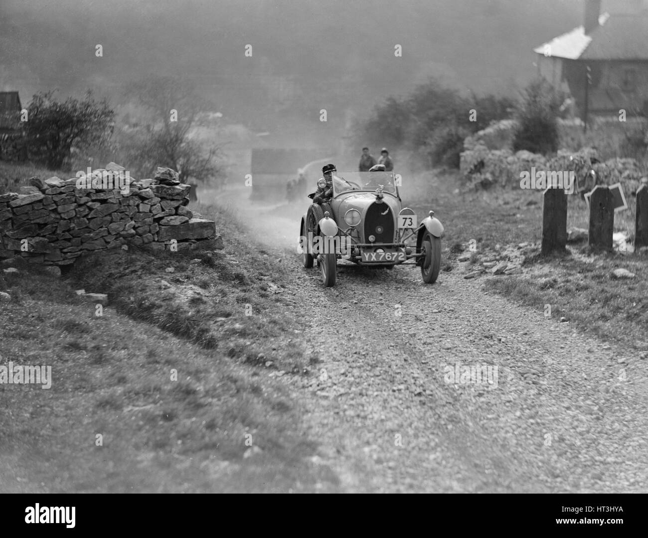Bugatti Type 40 of HW Blaw competing in the MCC Sporting Trial, 1930. Artist: Bill Brunell. - Stock Image