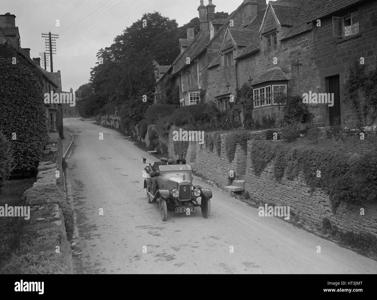 Calthorpe 4-seater tourer, Cotswolds, c1920s. Artist: Bill Brunell. - Stock Image
