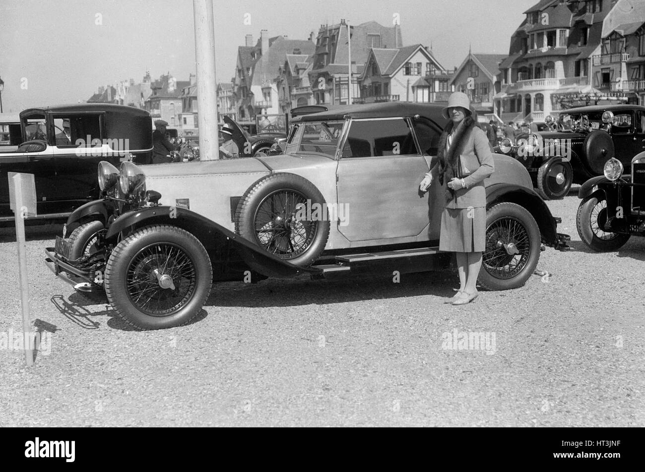 Delage at Boulogne Motor Week, France, 1928. Artist: Bill Brunell. - Stock Image