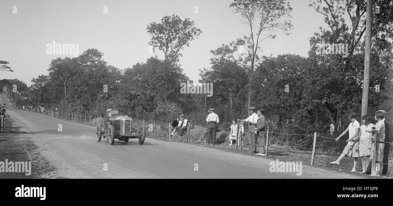 Amilcar competing in the Grand Prix de Boulogne, Boulogne Motor Week, France, 1928. Artist: Bill Brunell. - Stock Image