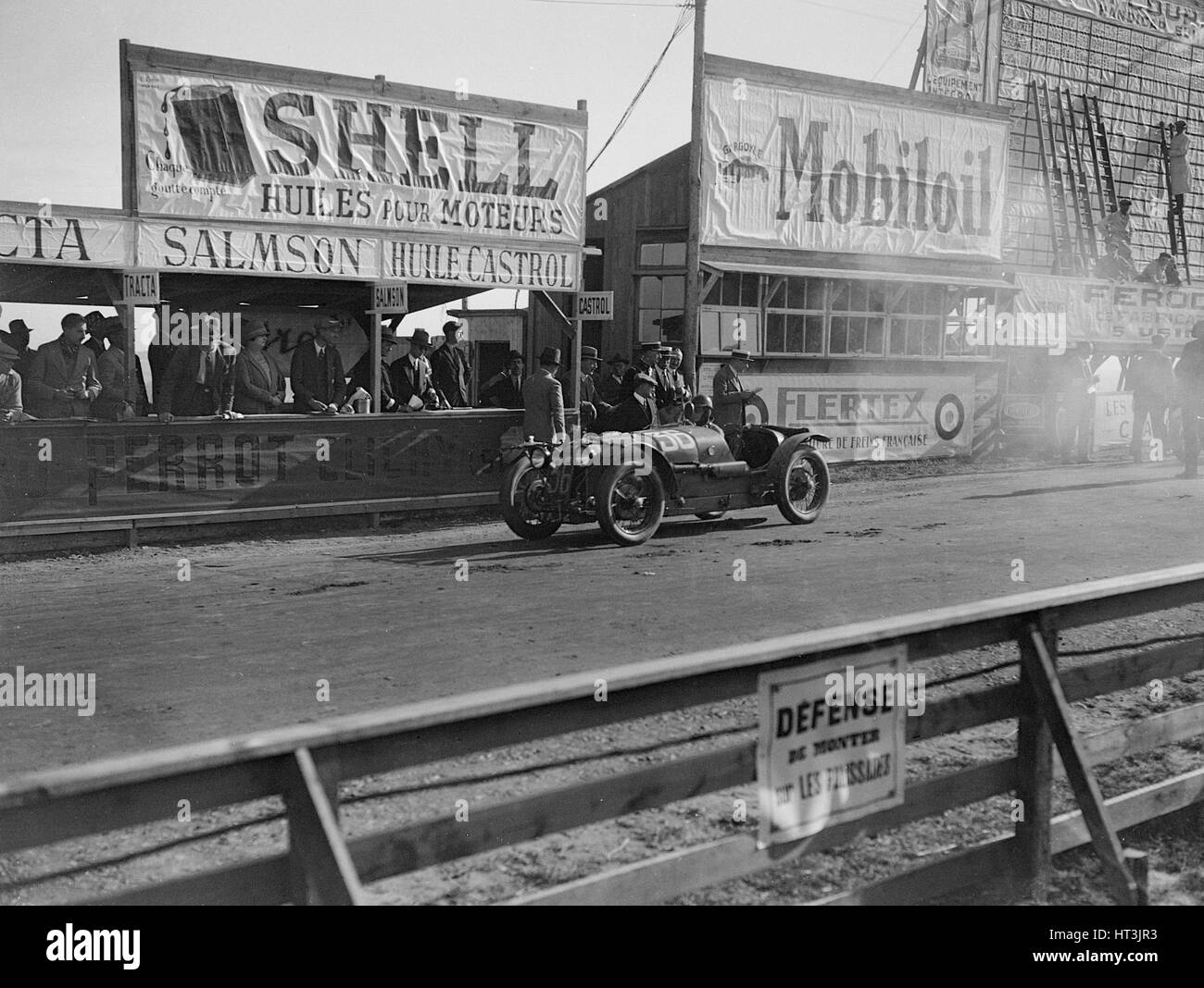 Amilcar C6 of Miss Maconochie competing at the Boulogne Motor Week, France, 1928. Artist: Bill Brunell. - Stock Image