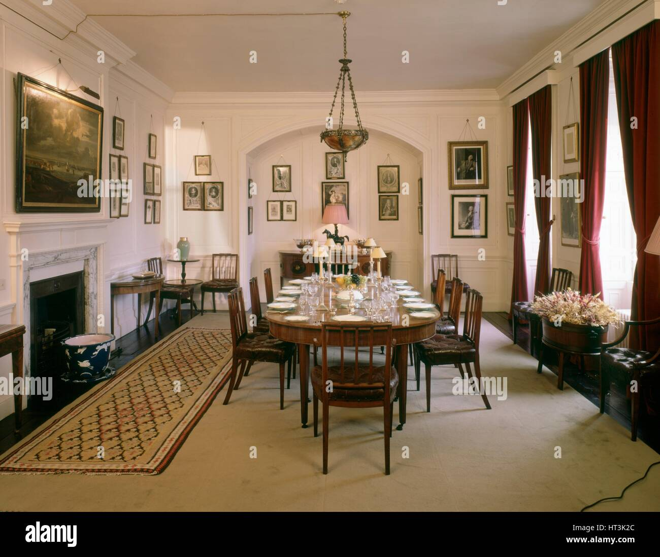 The Dining Room, Walmer Castle, c1990-2010. Artist: Nigel Corrie. - Stock Image