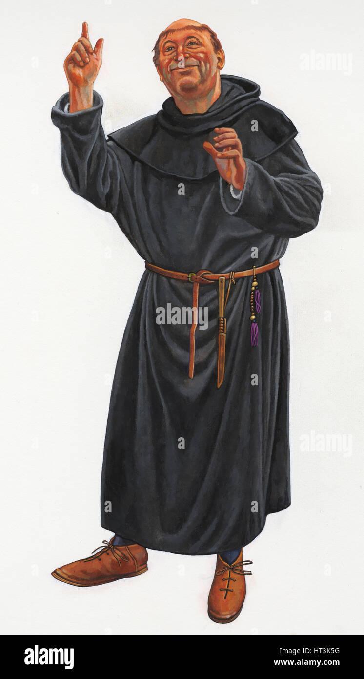 Benedictine Prior, 1280-95, (c1990-2010). Artist: Graham Sumner. - Stock Image