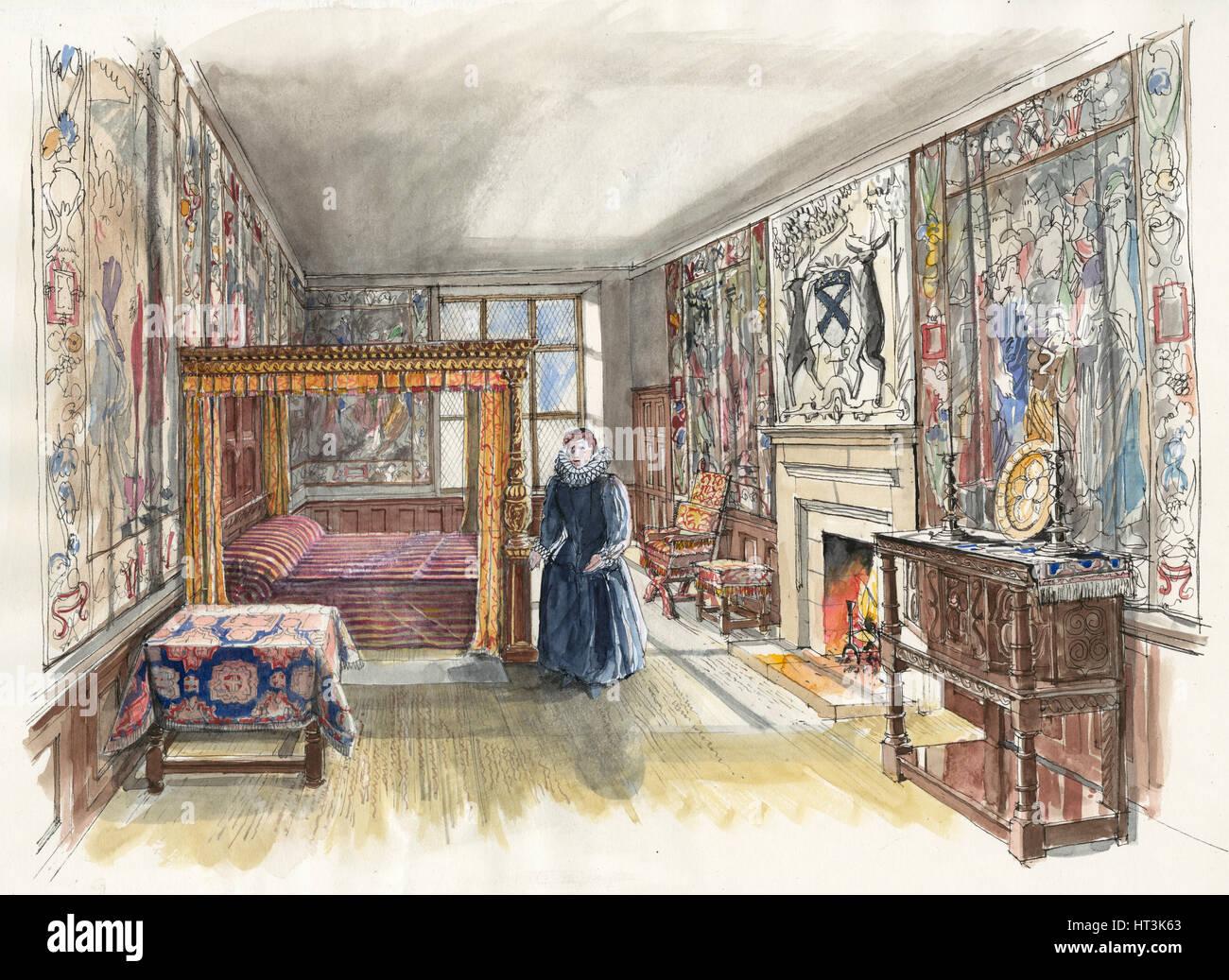 Hardwick Old Hall, 1601, (c2000-2010).  Artist: Liam Wales. - Stock Image