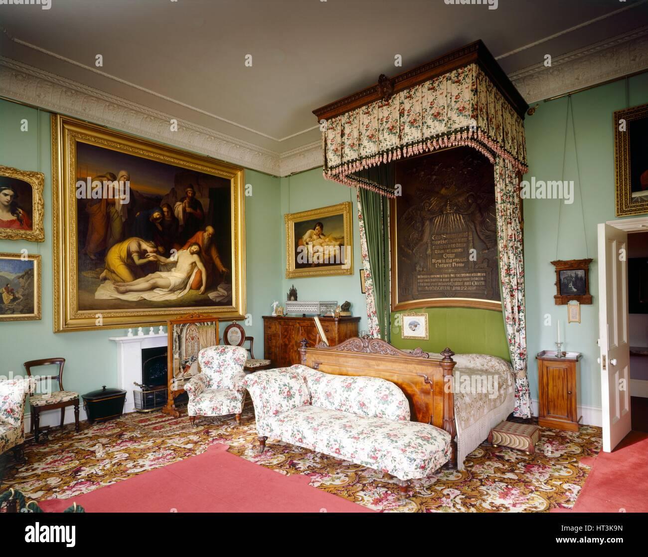 Queen Victoria's Bedroom, Osborne House, c1990-2010. Artist: Nigel Corrie. - Stock Image