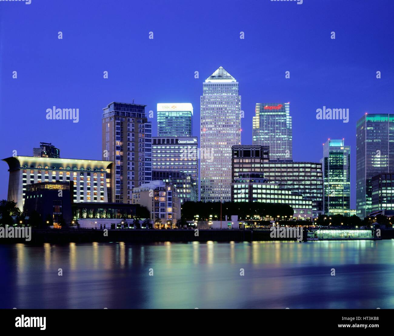 Canary Wharf, c1990-2010. Artist: Unknown. - Stock Image