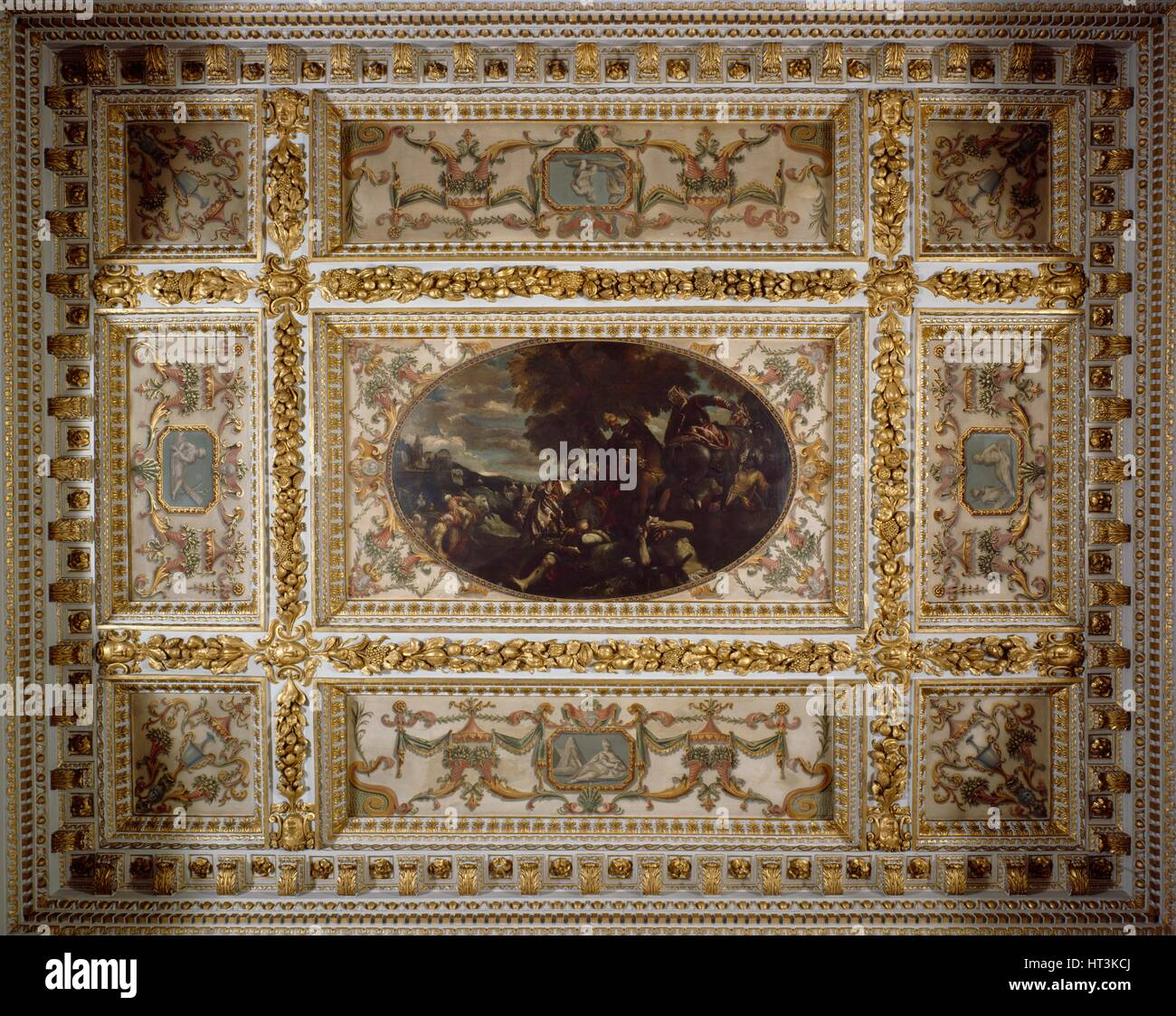 Defence of Scutari, Gallery ceiling, Chiswick House, c1990-2010. Artist: Nigel Corrie. - Stock Image