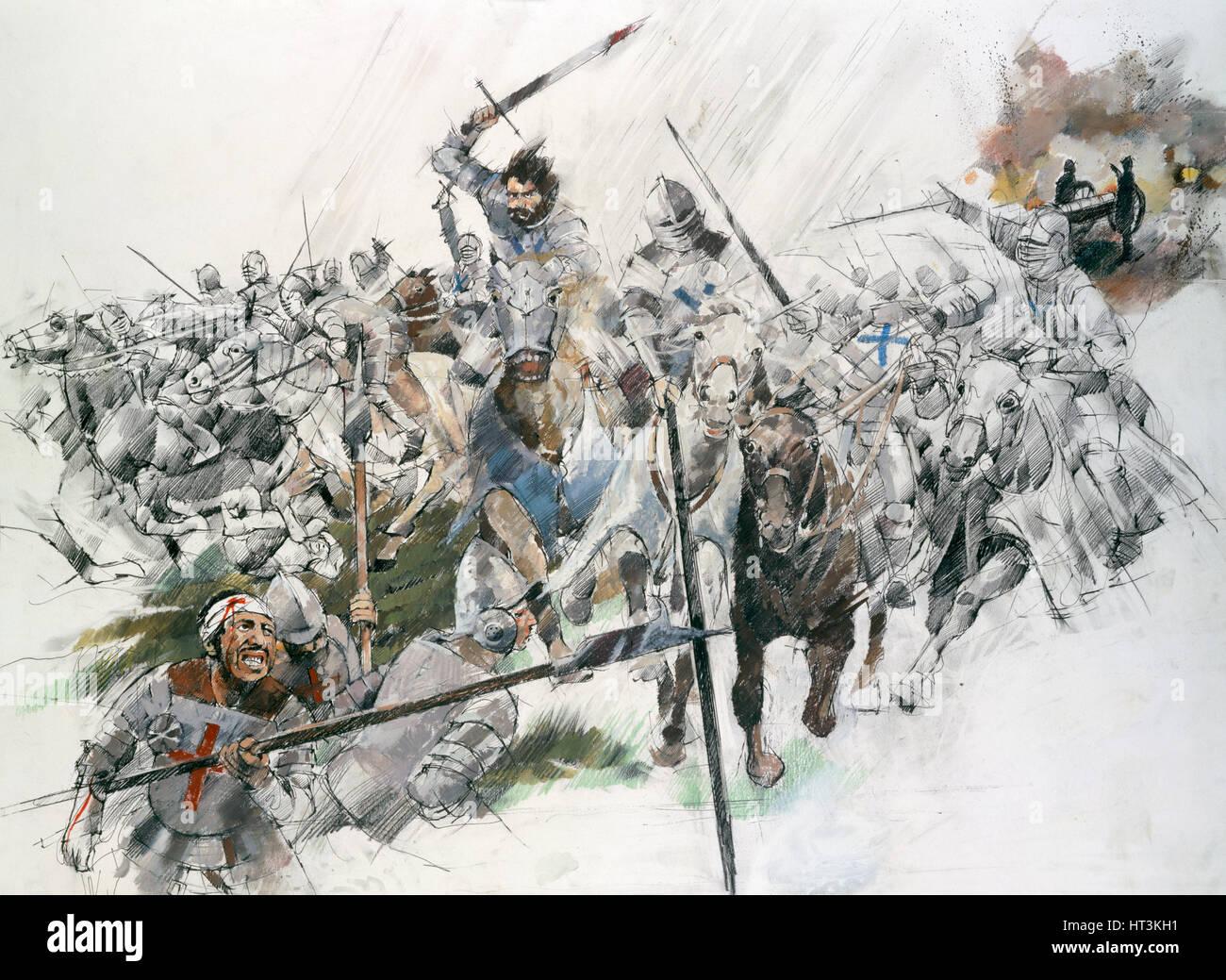 Battle of Flodden Field, 1513, (c1990-2010).  Artist: Ivan Lapper. - Stock Image
