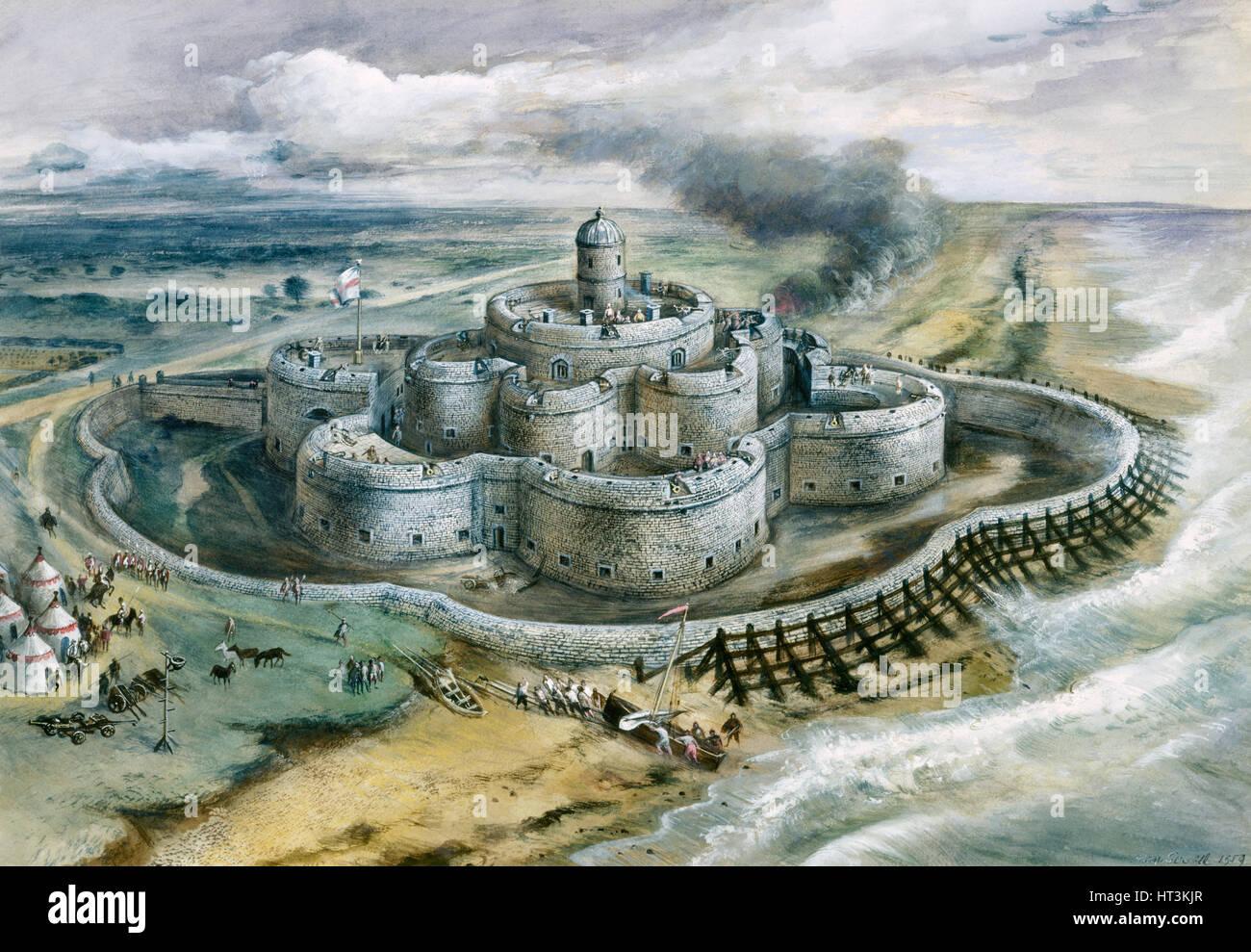 Deal Castle, 1540, (c1960s). Artist: Alan Ernest Sorrell. - Stock Image