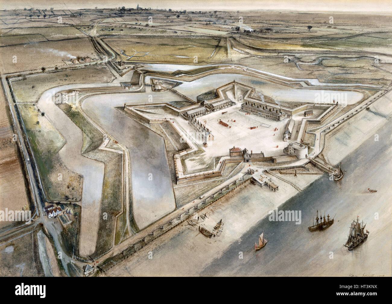 Tilbury Fort, c17th century, (c1960s). Artist: Alan Ernest Sorrell. - Stock Image