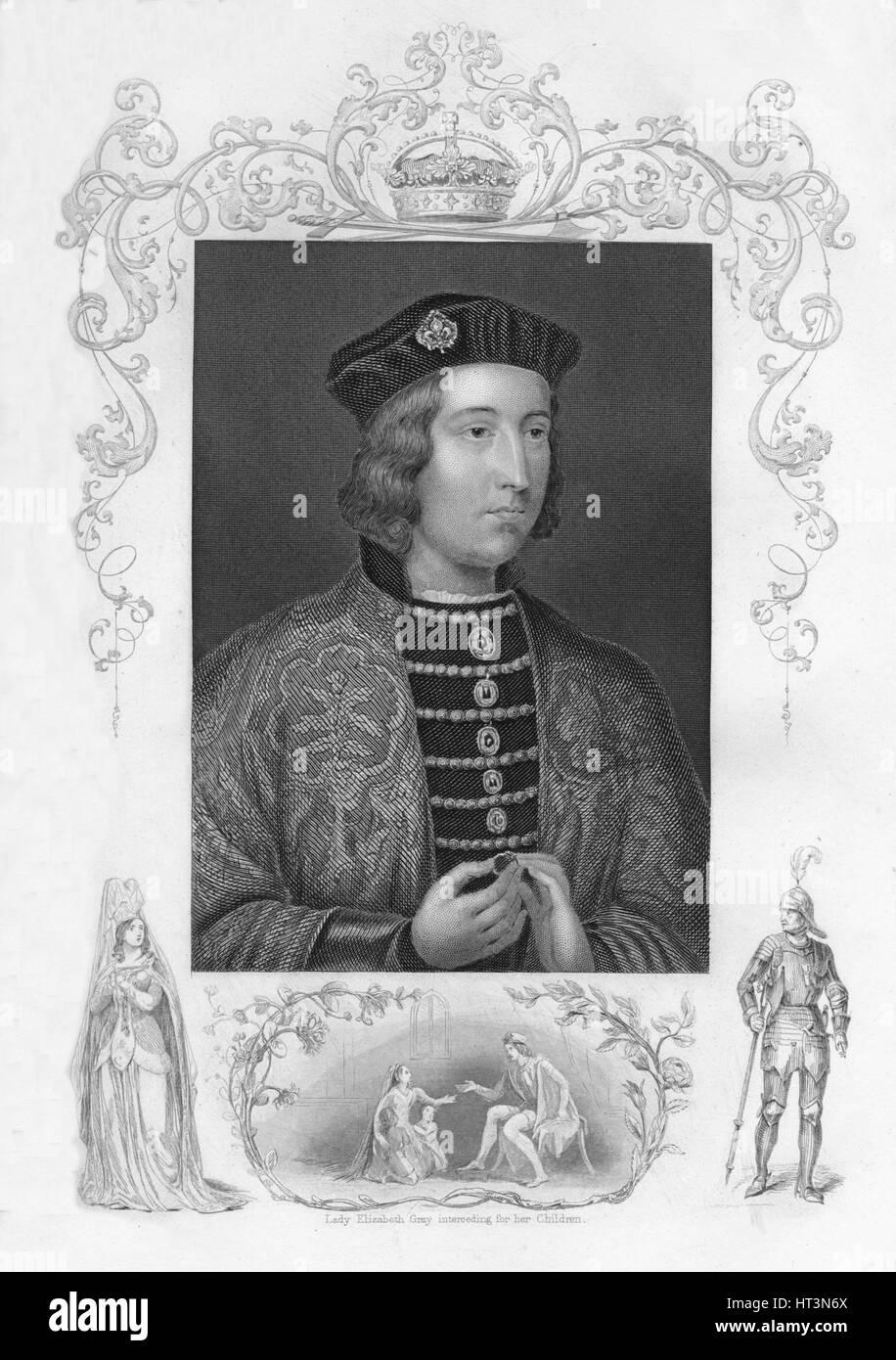 'Edward IV', 1859. Artist: George Vertue. - Stock Image