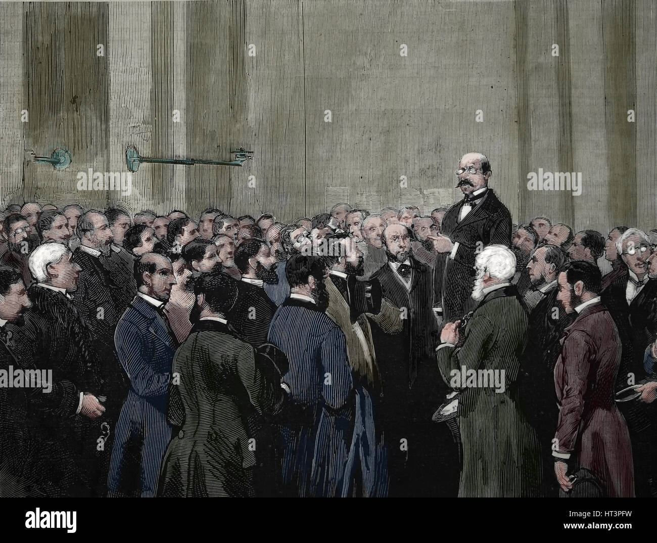 London. The Stock exchange on receiving the news of the attempted attack on the Queen Victoria I by Roderick Maclean, - Stock Image