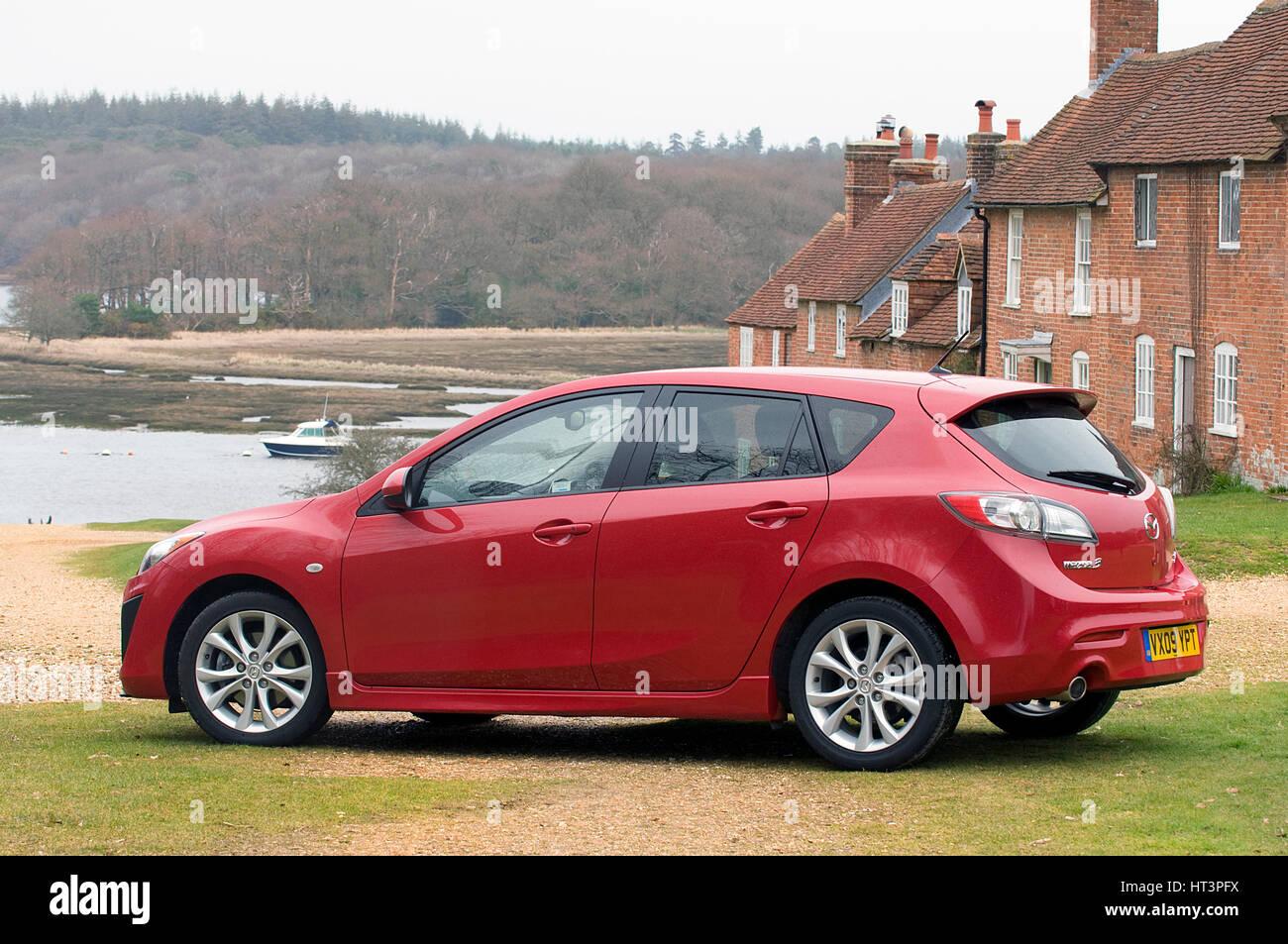 2009 Mazda 3 2.2D Sport Artist: Unknown. - Stock Image