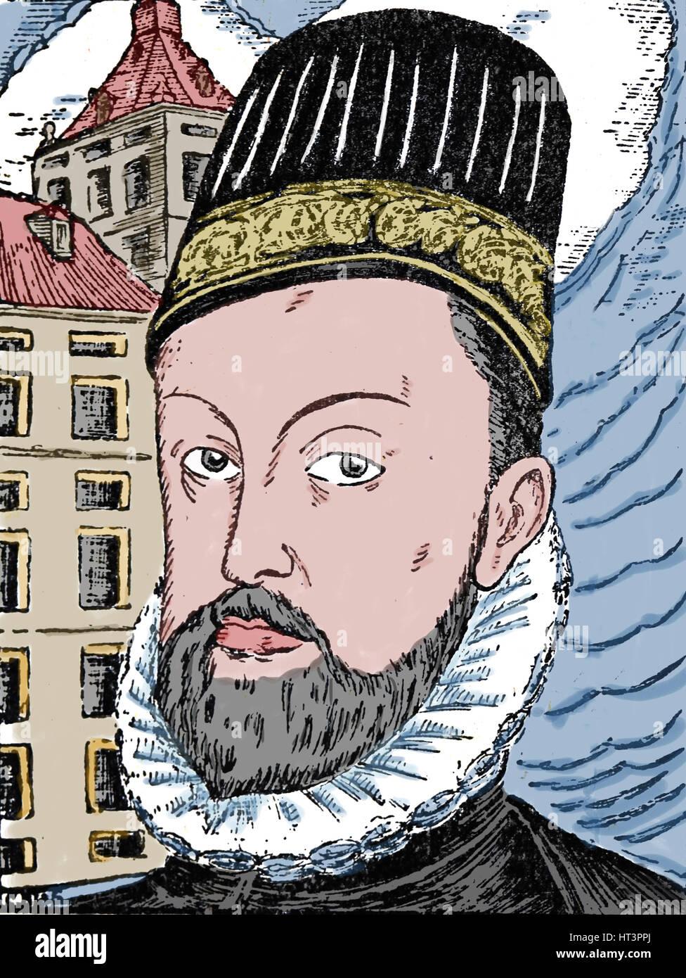 Philip II of Spain (1527-1598). King of Spain. Portrait. Engraving. - Stock Image