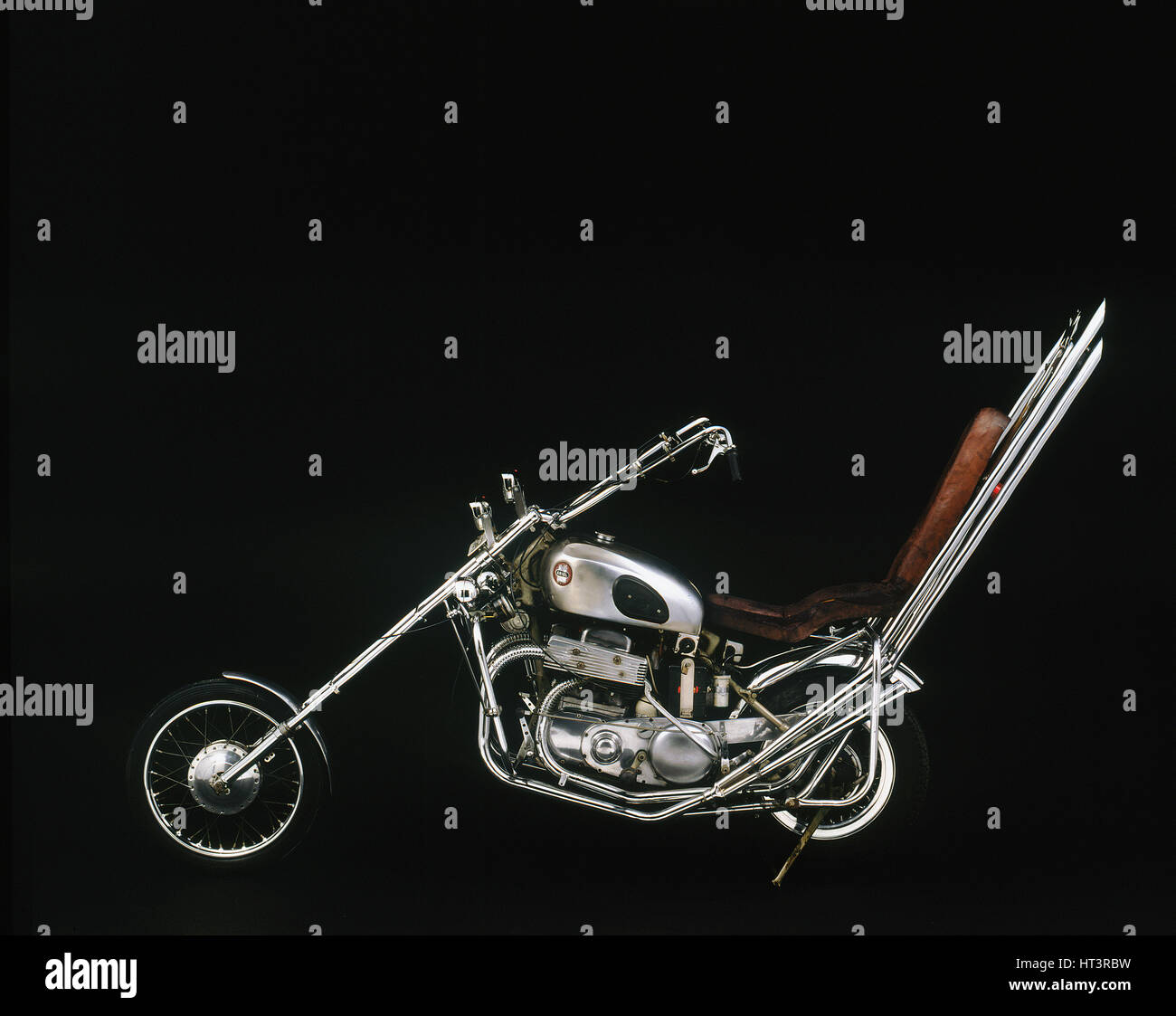 1959 Ariel Square 4 Chopper motorcycle Artist: Unknown. - Stock Image