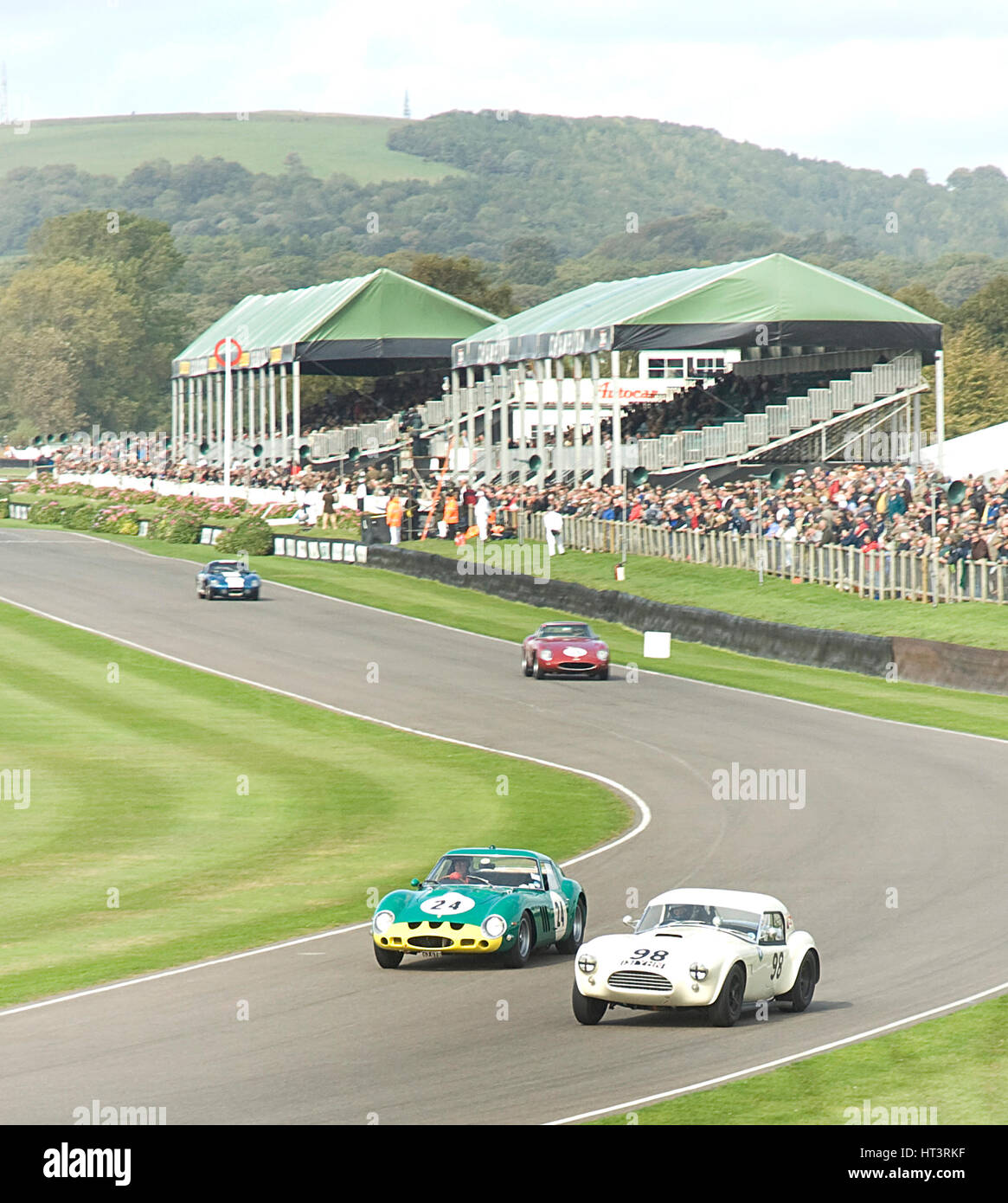2011 Goodwood Revival Meeting historic sports car racing, Ferrari 250 GTO and AC Cobra at Madgwick Artist: Unknown. - Stock Image