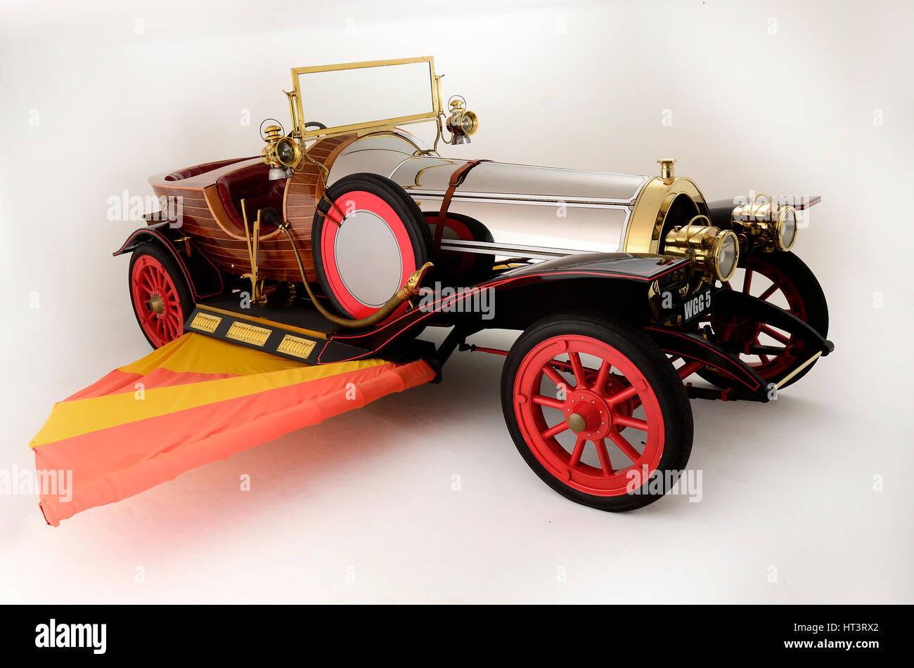 Chitty Chitty Bang Bang Film Car Replica   Stock Image