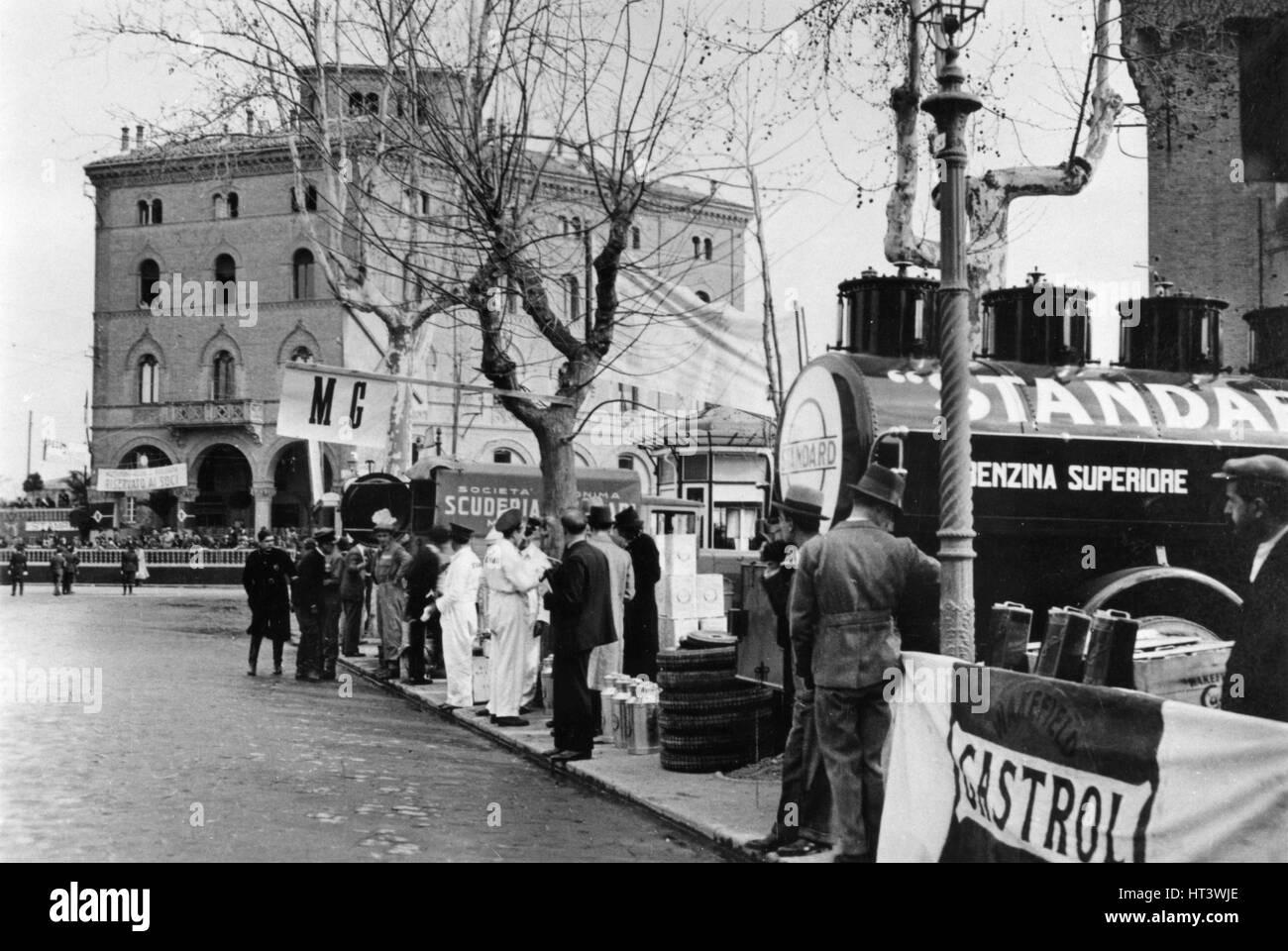 1933 Mille Miglia, Bolgna Artist: Unknown. - Stock Image