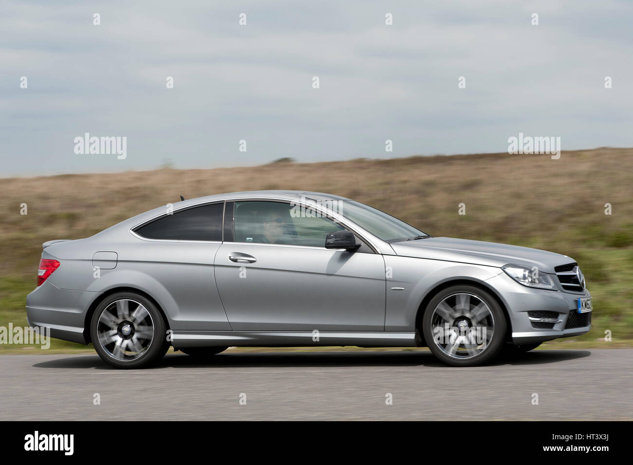 2013 Mercedes Benz C250 Cdi Coupe Amg Sport Artist Unknown Stock Photo Alamy