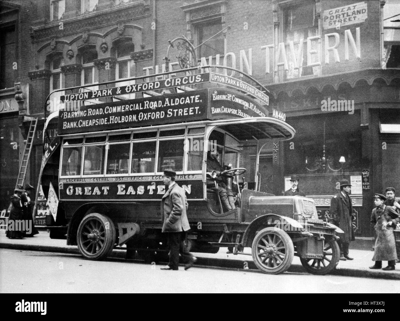1906 Straker Squire bus Artist: Unknown. - Stock Image