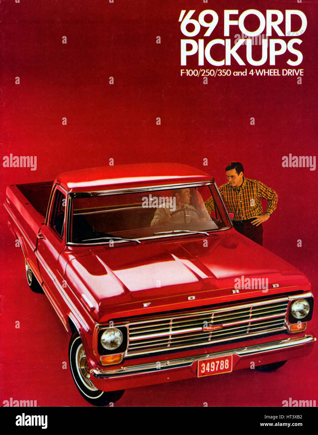 Ford F100 Stock Photos Images Alamy 1955 Truck Art 1969 F 100 Pick Up Brochure Artist Unknown Image