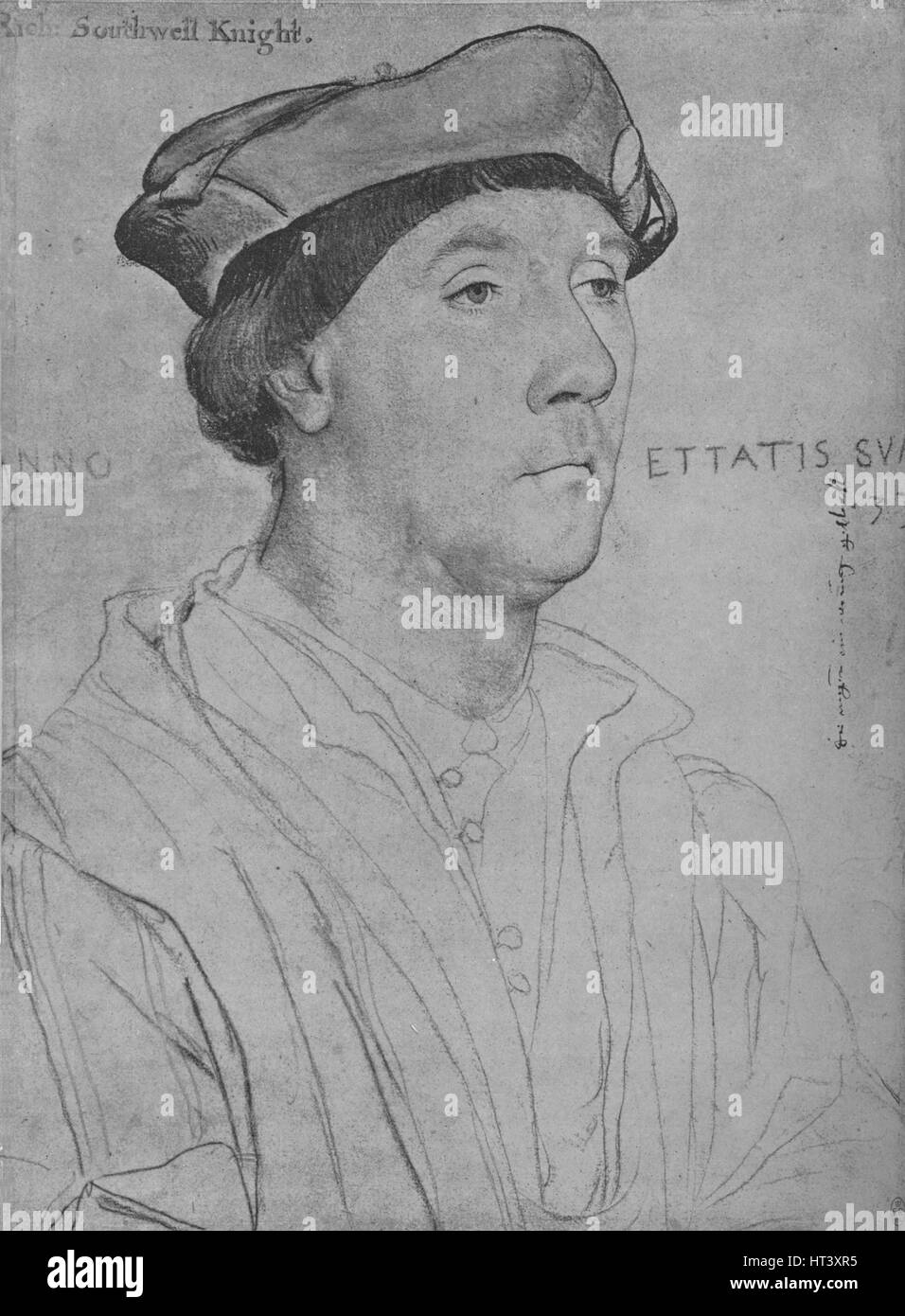 'Sir Richard Southwell', 1536 (1945). Artist: Hans Holbein the Younger. - Stock Image