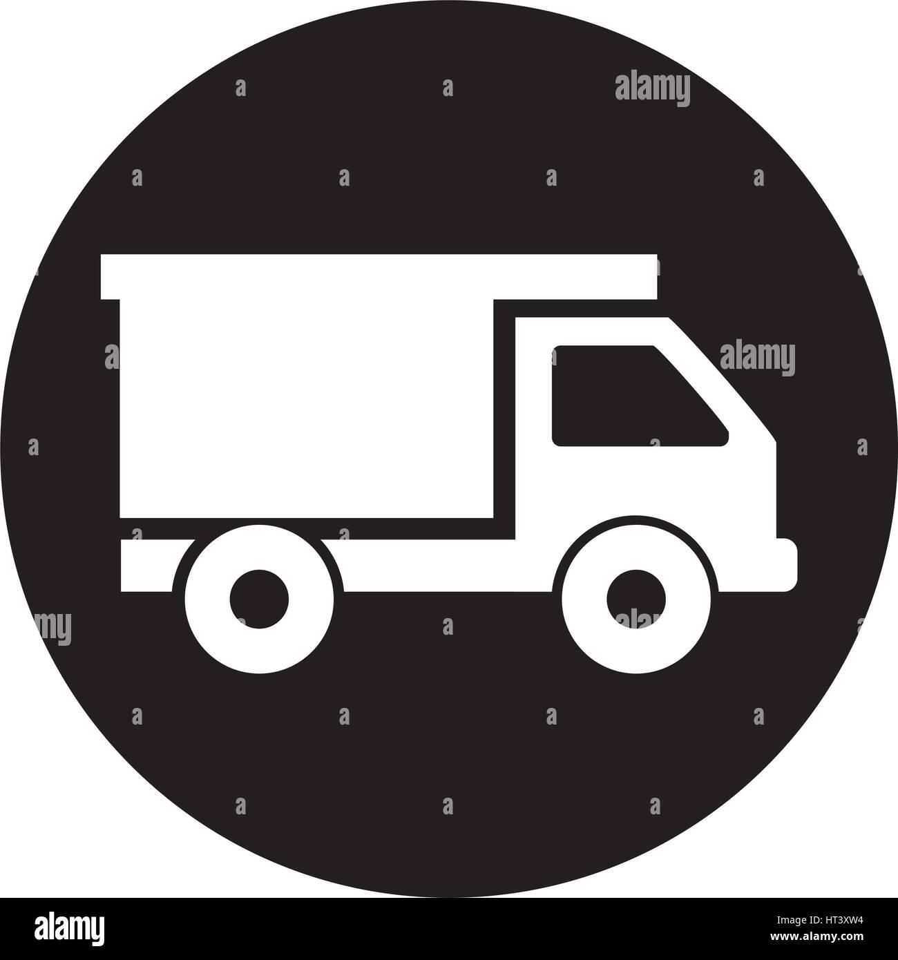 Dump truck isolated icon - Stock Vector