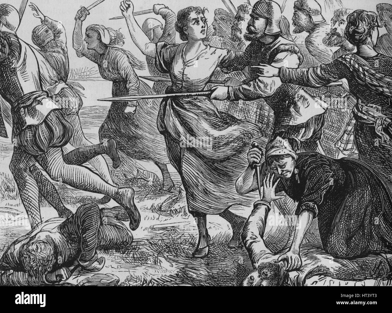 'The Battle of Ancrum Moor', 27 February 1545, (c1880). Artist: Unknown. - Stock Image