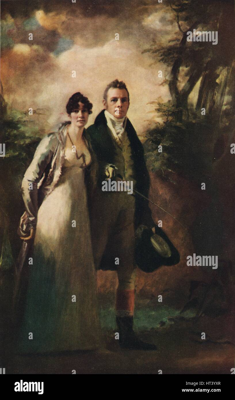 'Mr. and Mrs. Robert Campbell of Kailzie', c1805, (1926). Artist: Henry Raeburn. - Stock Image