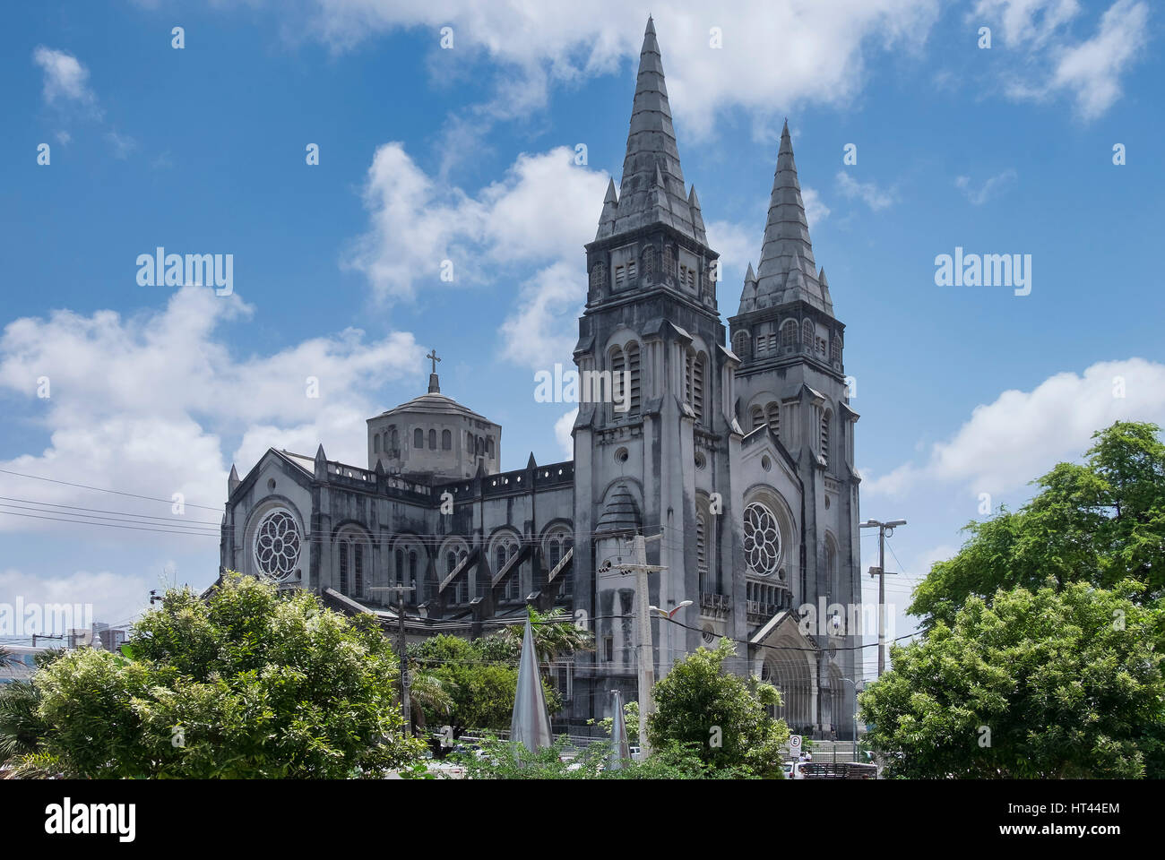 The neo-Gothic  St. Joseph's Cathedral (or Catedral Metropolitana), Fortaleza, State of Ceara, Brazil, South America Stock Photo