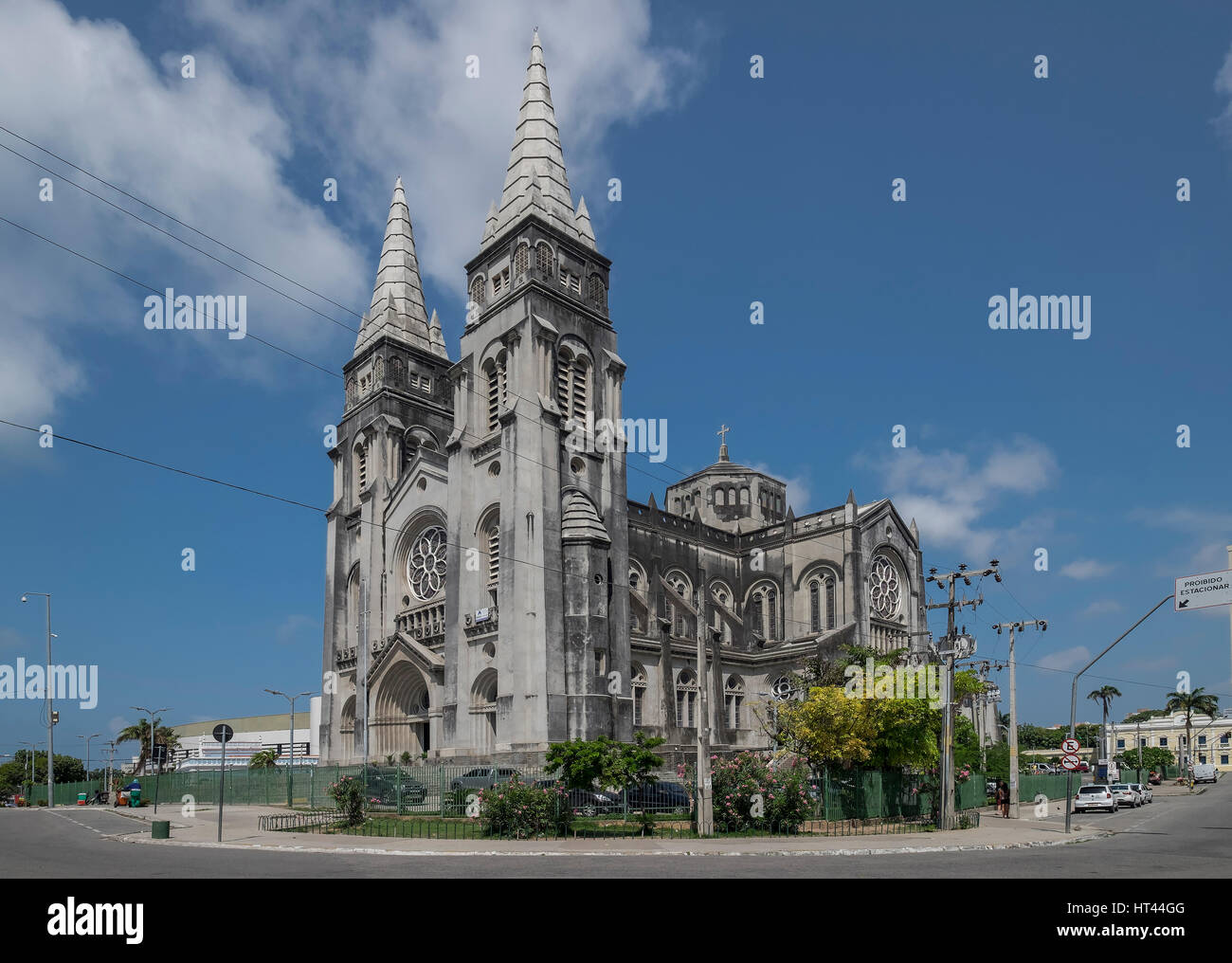 The neo-Gothic  St. Joseph's Cathedral (or Catedral Metropolitana), Fortaleza, State of Ceara, Brazil, South - Stock Image